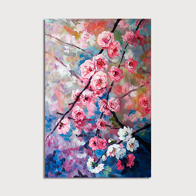 Hand Painted Canvas Oilpainting Abstract Flowers Home Decoration with Frame Painting Ready to Hang