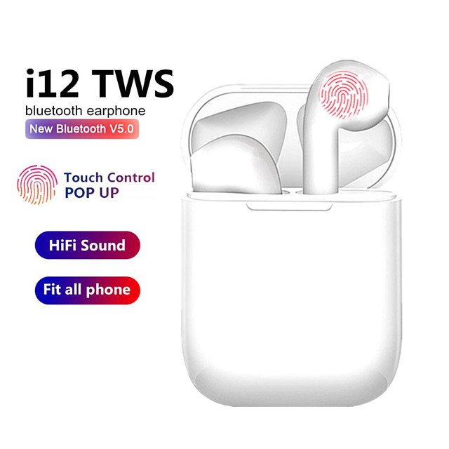 i12 TWS Wireless Headset Bluetooth 5.0 Touch Sport Earphones Stereo For iPhone Xiaomi Huawei Samsung Android Phone