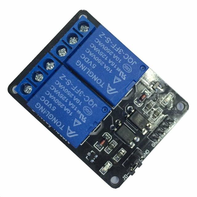 Módulo de relé de 5 canales y 2 canales con optoacoplador para brazo arduino pic avr dsp