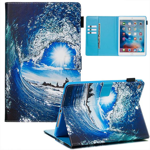 Case For Apple iPad Mini 3/2/1 / iPad Mini 4 / iPad Mini 5 Dustproof / with Stand / Flip Back Cover sky PU Leather