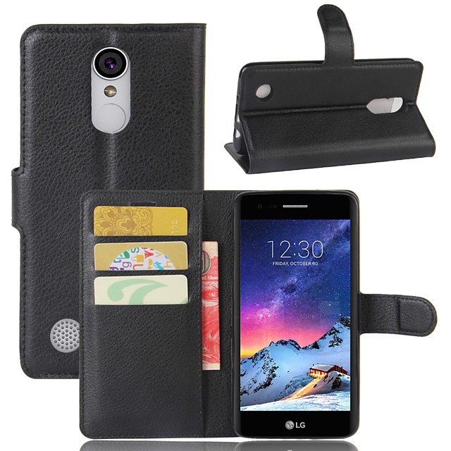 Case For LG LG Q Stylus / LG X venture / LG X Style Wallet / Card Holder / Flip Full Body Cases Solid Colored PU Leather / TPU