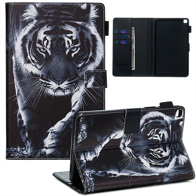 Case & Pen For Samsung Galaxy Samsung Tab A 8.0(2019)/ E 8.0 /A 7.0 / A8(2019)P200/205 Dustproof / with Stand / Flip Back Cover tiger PU Leather