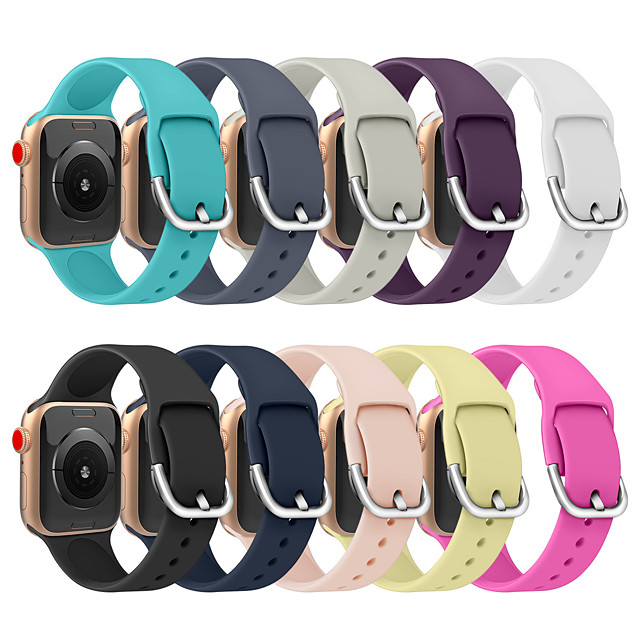 Watch Band for Apple Watch Series 5/4/3/2/1 Apple Modern Buckle Silicone Wrist Strap