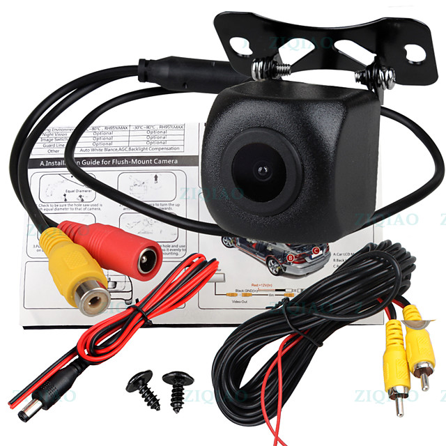 ZIQIAO 540 TV-Lines 1280 x 720 CCD Wired 170 Degree Rear View Camera Waterproof / Plug and play for Car