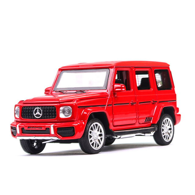 1:32 Toy Car Music Vehicles Car SUV Climbing Car Glow Office Desk Toys Parent-Child Interaction Zinc Alloy Rubber Mini Car Vehicles Toys for Party Favor or Kids Birthday Gift / Kid's