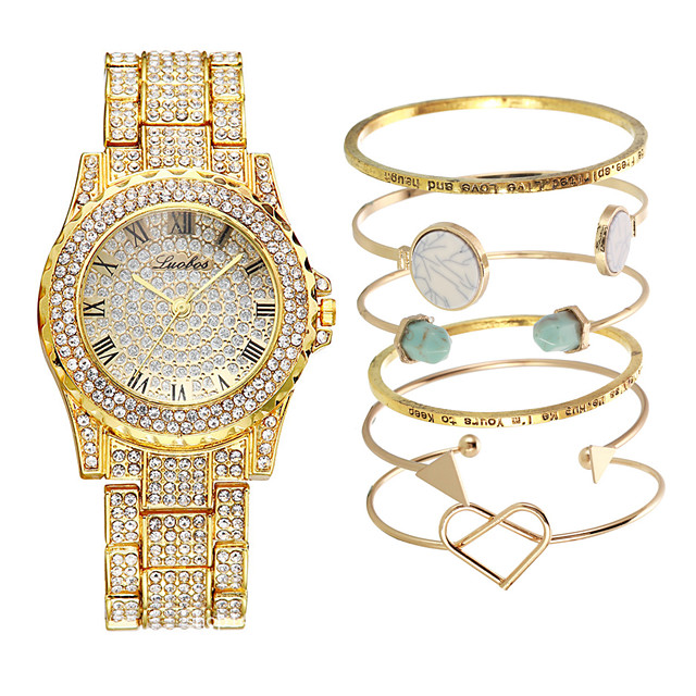Women's Steel Band Watches Luxury New Arrival Silver Gold Rose Gold Stainless Steel Chinese Quartz Rose Gold Gold Silver Cute New Design Casual Watch 1 set Analog One Year Battery Life
