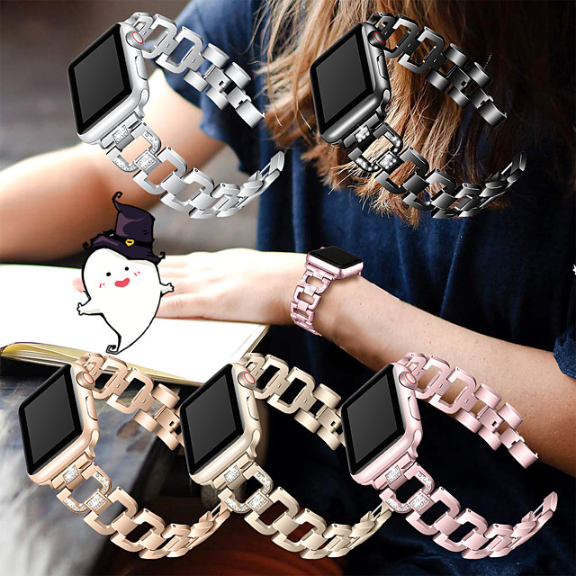 Stainless Steel Strap for Apple Watch Band Rhinestone Diamond Band 38/40 42/44mm for Apple Watch  Series 5 4 3 2 1