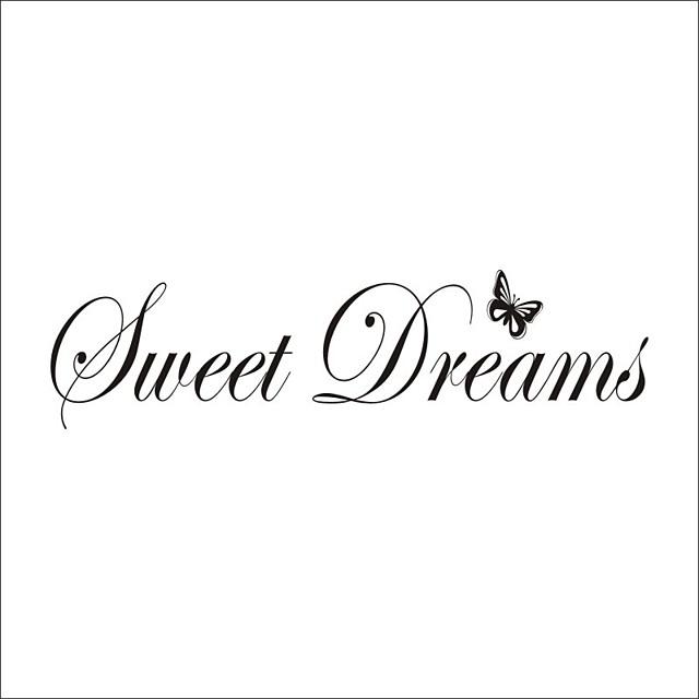 Sweet dreams Decorative Wall Stickers Stars Nursery / Kids Room