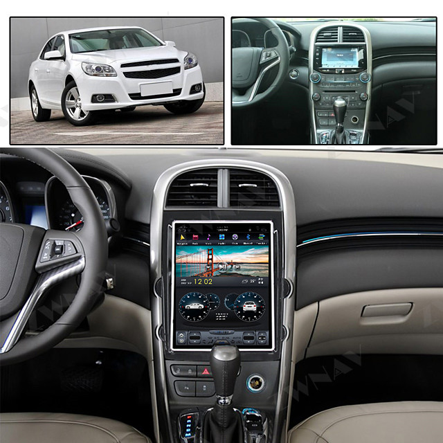 ZWNAV 10.4inch 1din Android 8.1 4GB 64GB Tesla style Car MP5 Player Car GPS Navigation Car Multimedia player recorder For Chevrolet Malibu 2013-2015