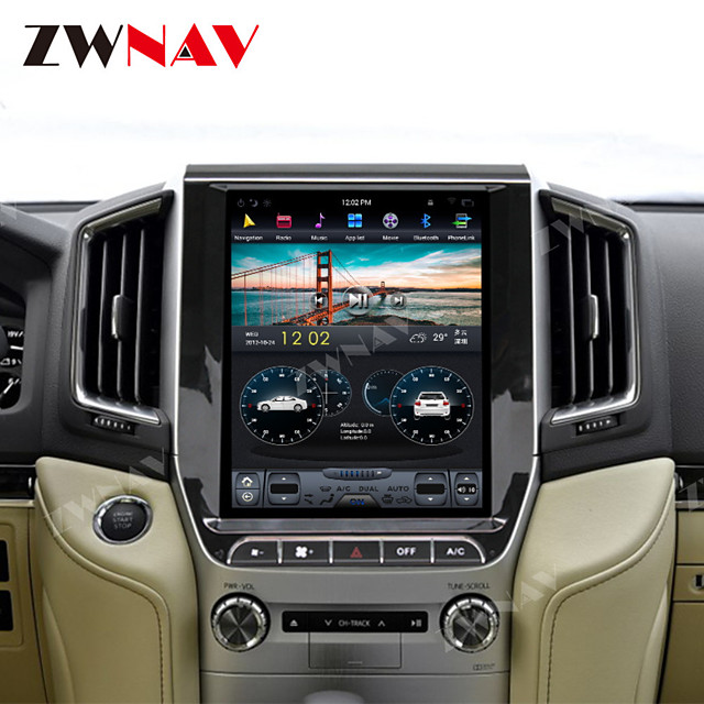ZWNAV 12.1 inch 1din Android 8.1 Car GPS Navigation auto radio Car Multimedia player Car MP5 Player For TOYOTA LAND CRUISER LC200 2016-2019