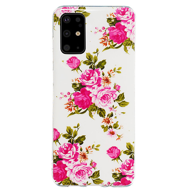 Case For Samsung Galaxy S20 / S20 Ultra / Glow in the Dark / Pattern Back Cover Flower TPU for Galaxy A10 A20 A30 A30S A40 A50 A50S A60 A70 A80 A90 M10 M20 NOTE9 NOTE10 NOTE10 PRO