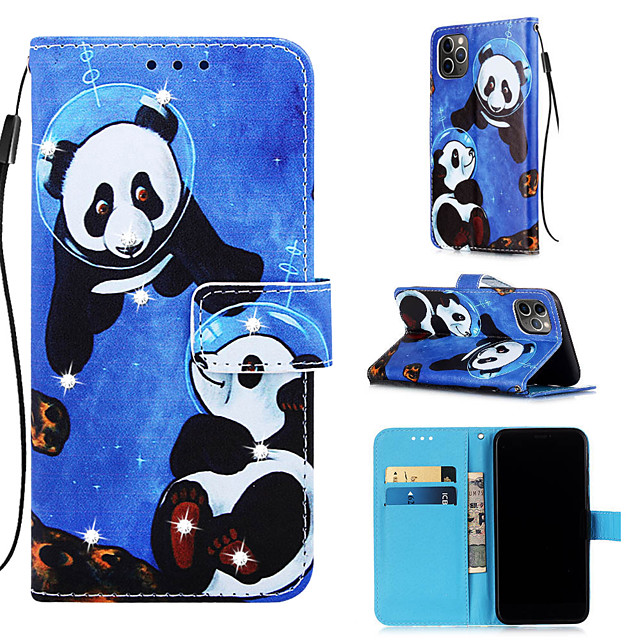 Case For Apple iPhone 11 / iPhone 11 Pro / iPhone 11 Pro Max Wallet / Card Holder / with Stand Full Body Cases Panda PU Leather for iPhone XS MAX XR XS X 8 PLUS 7 PLUS 6 PLUS 8 7 6S