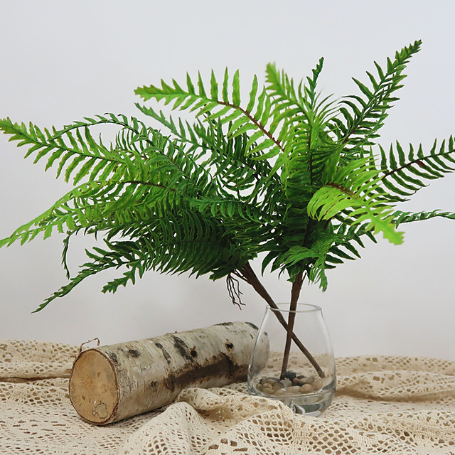 Artificial fern living room balcony office decorative potted plant 1 Pcs