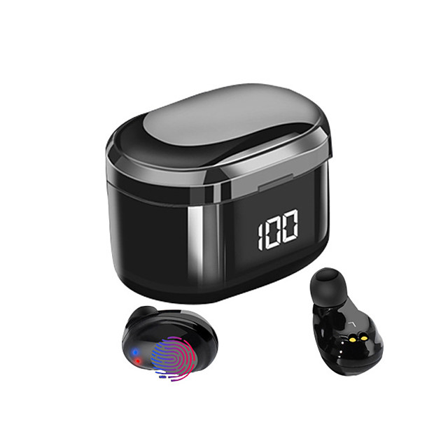 LITBest X6 LED TWS True Wireless Earbuds Wireless Bluetooth 5.0 with Microphone with Charging Box Sweatproof IPX5 for Mobile Phone