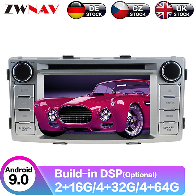 ZWNAV 6.2inch 2din 4GB 64GB Android 9.0 Car CD DVD Player GPS navigation Auto Stereo Car Multimedia player radio SATNAV For Toyota Hilux Fortuner 2012-2014