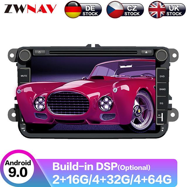 ZWNAV 8 inch 2din 4GB 64GB Android9 Car DVD player Car GPS navination System car Multimedia Player tape recorder For Volkswagen For VW golf passat tiguan skoda