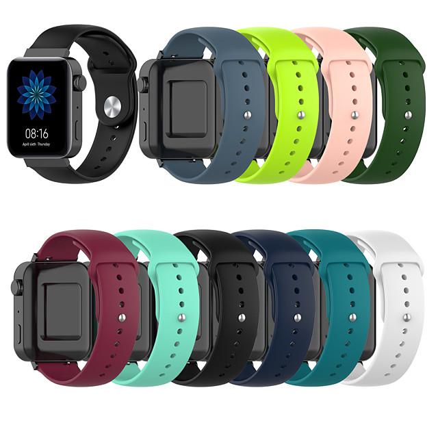 18mm Watch Band for Mi Smartwatch Xiaomi Sport Band Silicone Wrist Strap