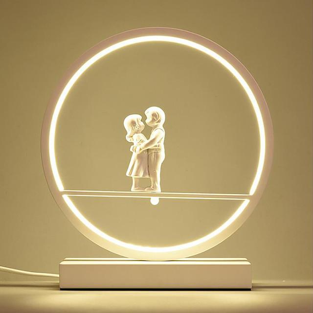 โคมไฟโต๊ะ / โคมไฟโต๊ะทำงาน LED / ดีไซน์มาใหม่ ง่าย แหล่งจ่ายไฟของหลอดไฟ LED สำหรับ ห้องนั่งเล่น / ห้องนอน อลูมิเนียม 85-265โวลต์ ขาว / สีดำ