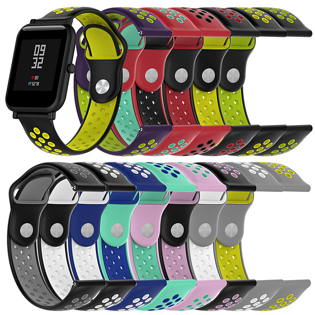 Watch Band for Huami Amazfit Bip Younth Watch Xiaomi Sport Band Silicone Wrist Strap