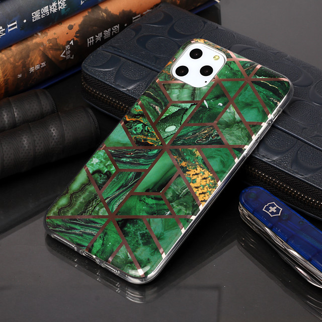 Case For Apple iPhone 11 / iPhone 11 Pro / iPhone 11 Pro Max Plating / Pattern Back Cover Geometric Pattern TPU