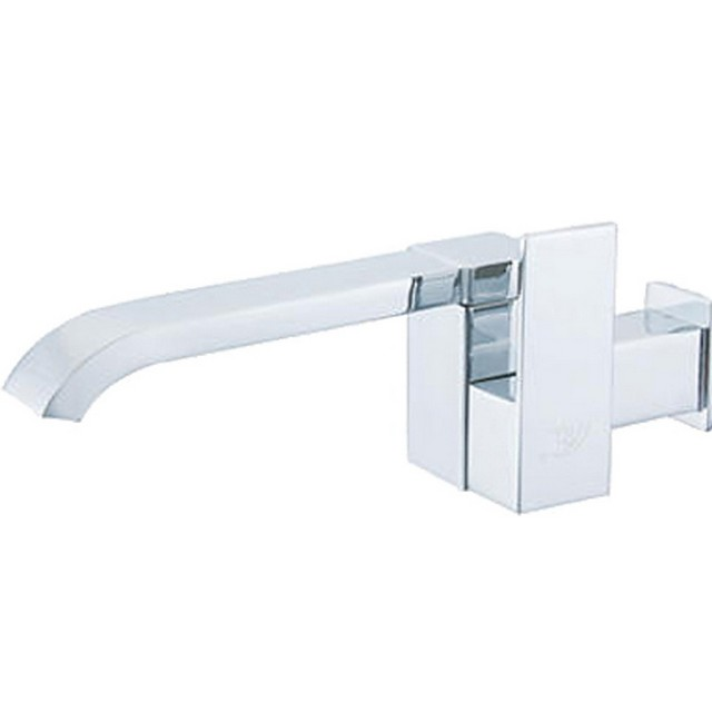 Bathroom Sink Faucet - Standard / Wall Mount Electroplated Wall Installation Single Handle One HoleBath Taps
