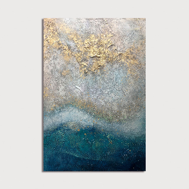 Hand Painted Canvas Oilpainting Abstract Home Decoration with Frame Painting Ready to Hang With Stretched Frame