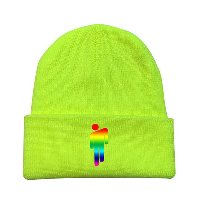 קיבל השראה מ קוספליי בילי איליש כובעים כותנה טהורה דפוס כובע עבור בגדי ריקוד גברים / בגדי ריקוד נשים