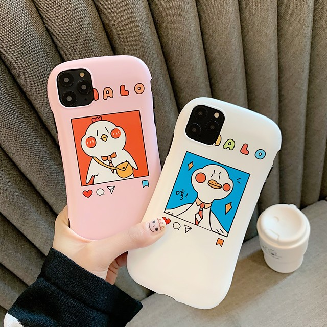 Case For Apple iPhone 11 / iPhone 11 Pro / iPhone 11 Pro Max Shockproof / Ultra-thin / Frosted Back Cover Word / Phrase / Animal / Cartoon PC