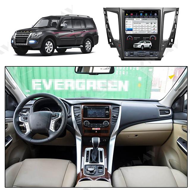 ZWNAV 12.1inch 1din Android 8.1 4GB 64GB Tesla style PX6 Car GPS Navigation car multimedia player Car MP5 Player auto radio tape recorder For MITSUBISHI PAJERO 2016