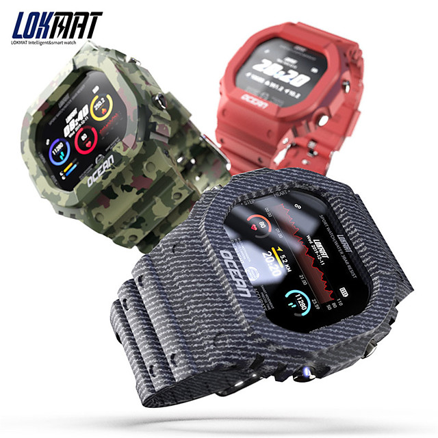 lokmat OCEAN Men Women Smartwatch Android iOS Bluetooth Waterproof Touch Screen Heart Rate Monitor Blood Pressure Measurement Sports Stopwatch Pedometer Call Reminder Activity Tracker Sleep Tracker