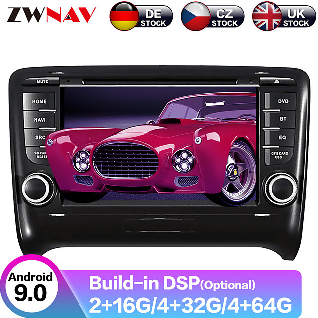 ZWNAV 7inch 2din Android 9 Car CD DVD Player Car MP5 Player Car GPS navigation Car multimedia player tape recorder auto stereo IPS For Audi TT 2006-2014
