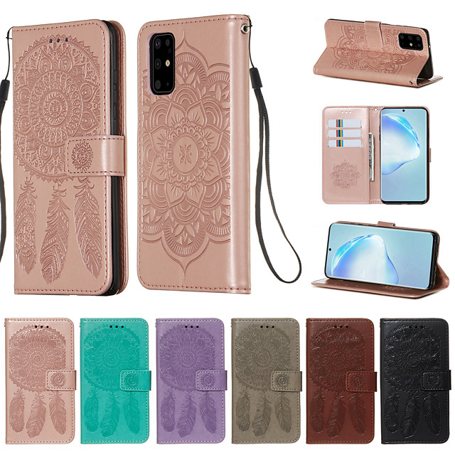Case for Samsung scene map Samsung Galaxy S20 S20 Plus S20 Dream catcher pattern embossed embossed PU leather card holder lanyard all-inclusive drop-resistant mobile phone case YB