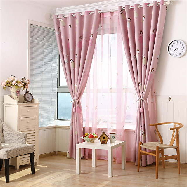 Gyrohome 1PC Pink Prince Shading High Blackout Curtain Drape Window Home Balcony Dec Children Door *Customizable* Living Room Bedroom Dining Room