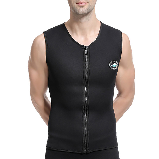 Men's Diving Rash Guard Swimwear Top Breathable Quick Dry Sleeveless Swimming Water Sports Solid Colored Autumn / Fall Spring Summer / Winter / High Elasticity