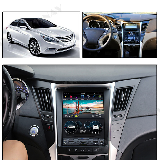 ZWNAV 10.4inch 1din 4GB 64GB Vertical screen Android 8.1 Car GPS Navigation car multimedia player Car MP5 Player radio tape recorder For Hyundai Sonata 8 2012-2014