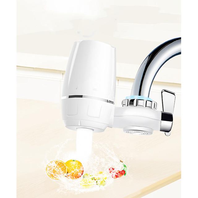 filtr wody kran biały duży system filtracji wody kranowej usuwa ołów, fluor i chlor - pasuje do standardowych kranów (1 filtr w zestawie)