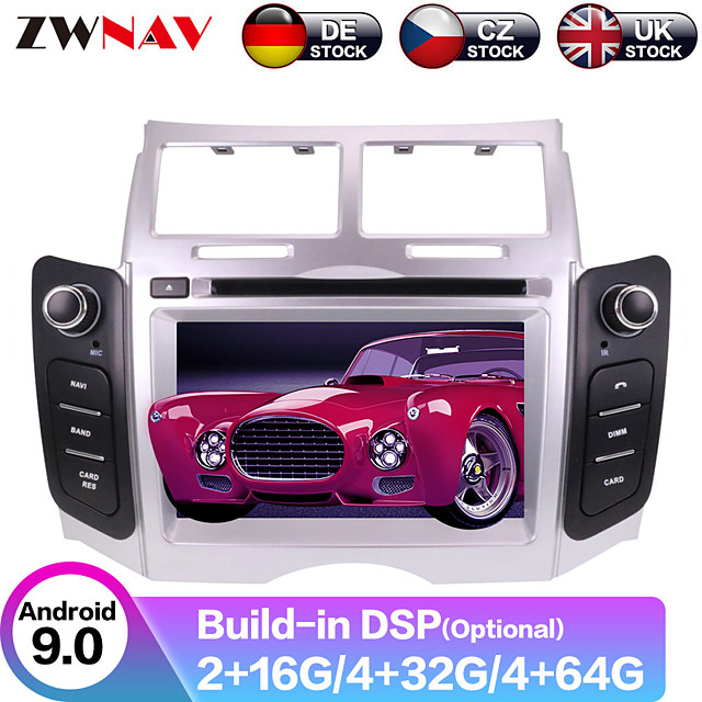 ZWNAV 6.2inch 2din 4GB 64GB DSP Android 9 Car DVD Player Car GPS Navigation auto stereo radio tape recorde Car multimedia player for Toyota Yaris 2005-2011
