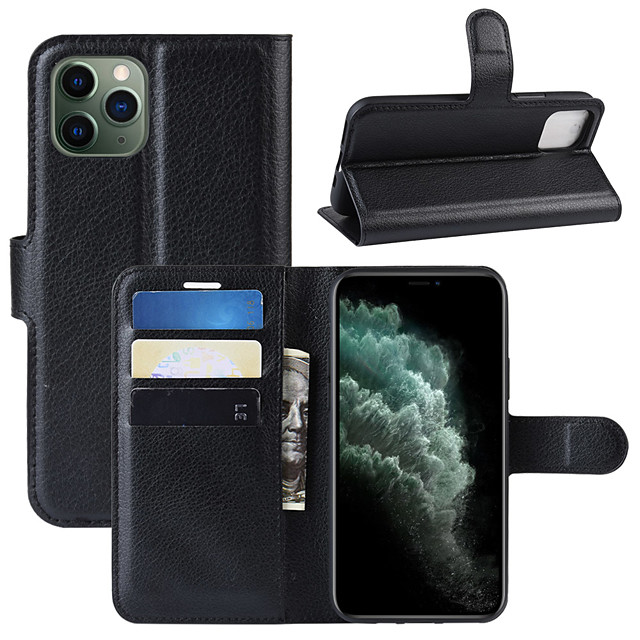 For iPhone 11 Pro Max Litchi Texture Horizontal Flip Leather Case with Wallet & Holder & Card Slots