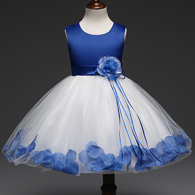 Princess Dress Flower Girl Dress Girls' Movie Cosplay A-Line Slip Cosplay Purple / Red / Pink Dress Halloween Carnival Masquerade Tulle Polyester