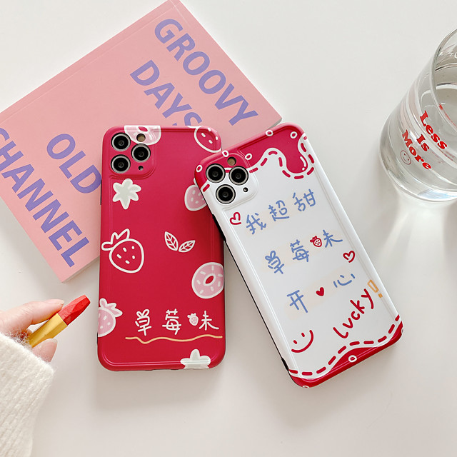 Case For Apple iPhone 11 / iPhone 11 Pro / iPhone 11 Pro Max Shockproof / Ultra-thin / Pattern Back Cover Food / Cartoon PC