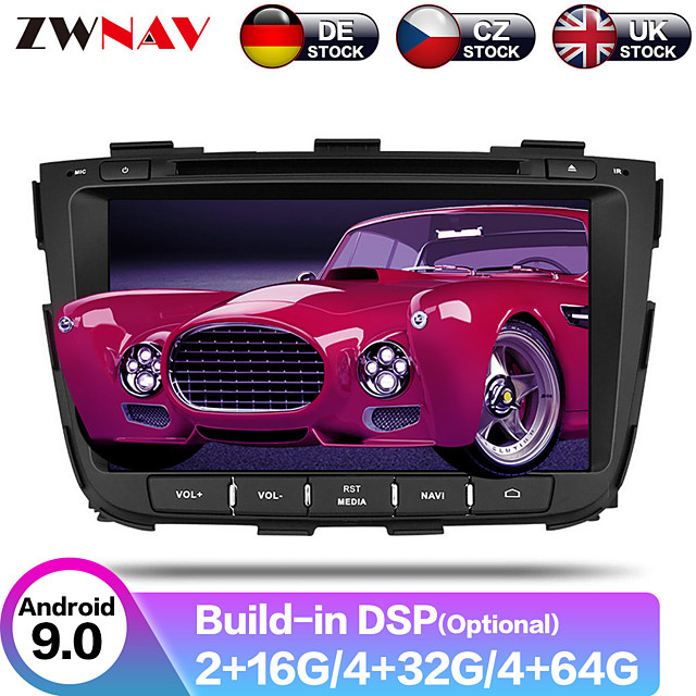 ZWNAV 8inch 2din Android 9 Car CD DVD Player Car GPS Navigation Auto stereo radio tape recorder Car Multimedia Player IPS For KIA SORENTO 2012-2015