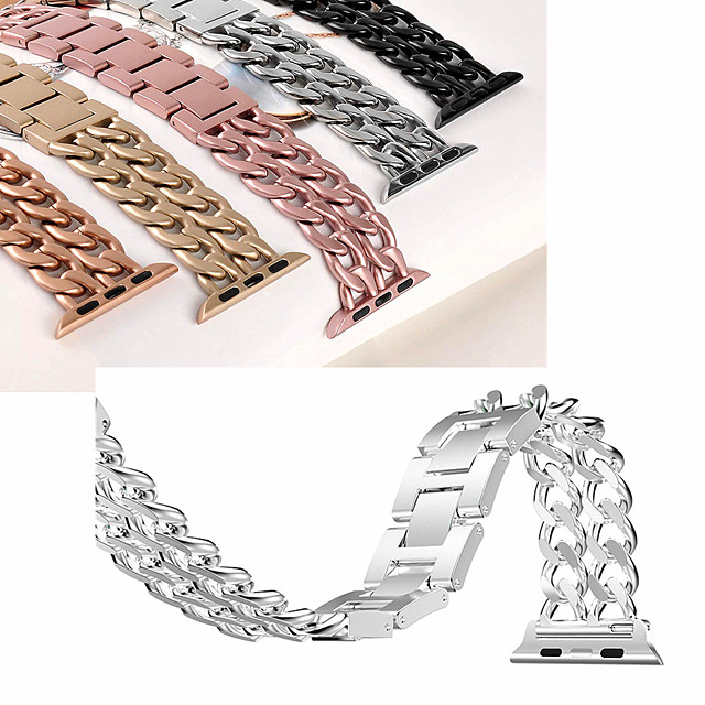 Fashion Stainless Steel Strap for Apple Watch series 5 4 40mm 44mm Band Metal Links Bracelet for iwatch series 1 2 3 strap 42mm 38mm
