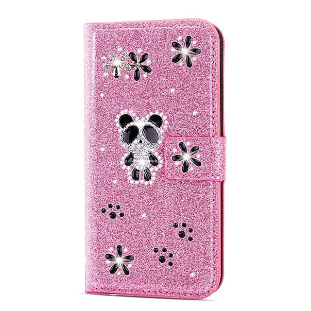 Case For Samsung Galaxy A51 / M40S / A71 Wallet / Shockproof Panda Diamond Glitter PU Leather Case For Samsung S20 Plus / S20 Ultra /A20e /A50s /A30s /A10 /A60 /A70/A80/S10 Lite (S10e)/S10 5G/S10 Plus
