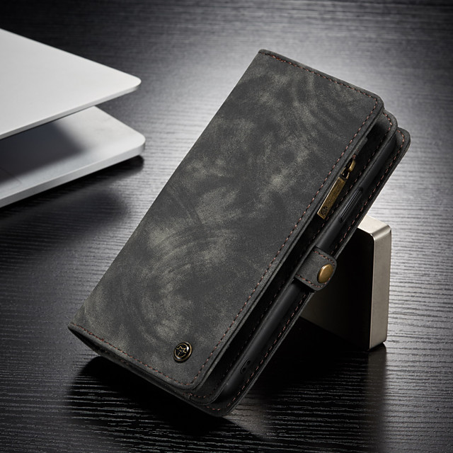 CaseMe Multifunctional Luxury Business Leather Magnetic Flip Case For iPhone 8/iPhone 7/iPhone 6/6s/iPhone 8 Plus/iPhone 7 Plus/iPhone 6 Plus With Wallet Card Slot Stand 2-in-1 Detachable Case Cover