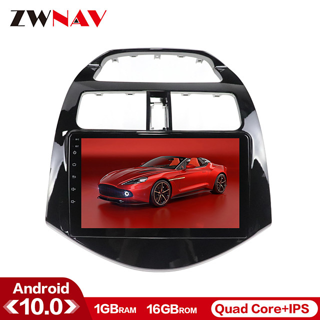 ZWNAV 9inch 1din 1GB 16GB Android 10 Car MP5 Player Car GPS Navigation Radio Car Stereo Car Multimedia Player Steering Wheel Control for Chevrolet Spark 2011-2014