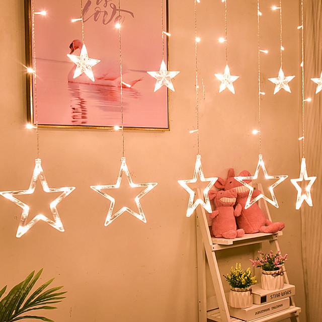 3.5m Light Sets 138 LEDs EL 1Set Mounting Bracket 1 set Warm White / Multi Color Halloween / Christmas Party / Decorative / Holiday 220-240 V