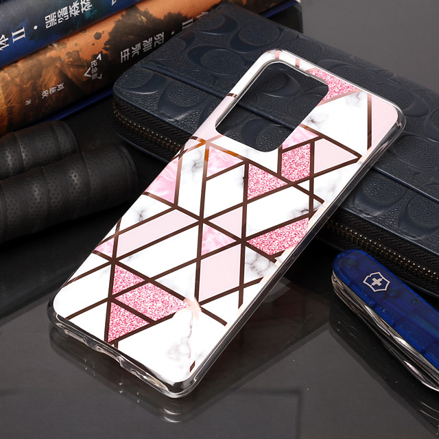 Case For Samsung Galaxy S9 / S9 Plus / S8 Plus Plating / Pattern Back Cover Geometric Pattern / Marble TPU