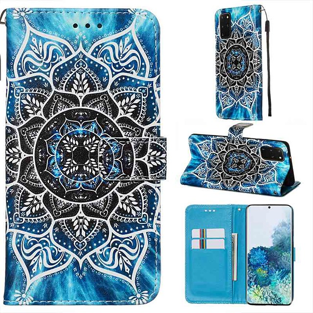 Case For Samsung Galaxy A90/Galaxy A80/Galaxy A50s Wallet / Card Holder / with Stand Full Body Cases Flower PU Leather For Galaxy A51/A71/S20/S20 Plus/S20 Ultra/A10S/A20S/A30S