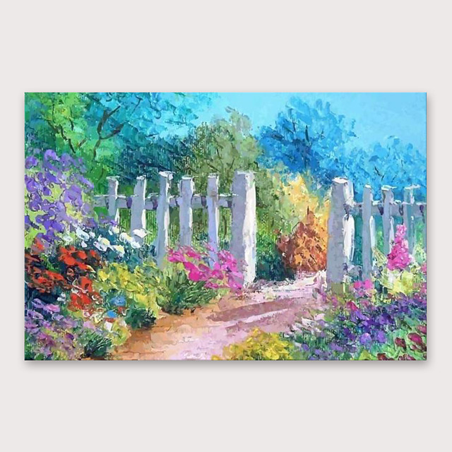 IARTS®Hand Painted Beautiful countrysideOil Painting   with Stretched Frame For Home Decoration