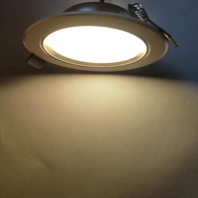 A set of 6PCS Super Bright Round LED Downlight 5W Aluminum AC110V-240V LED Downlight Recessed Ceiling Light